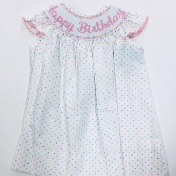 Hand smocked Birthday or summer dress